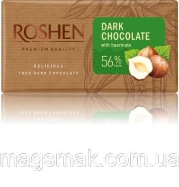 Шоколад Рошен Экстрачерный  с дроблеными лесными орехами , 90 г