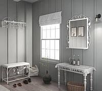 """Кованная мебель ХИЛТОН в прихожую (пуф+вешалка+зеркало), производитель фабрика мебели """"TENERO"""""""