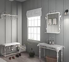 """Ковані меблі ХІЛТОН в передпокій (пуф+вішалка+дзеркало), виробник фабрика меблів """"TENERO"""""""