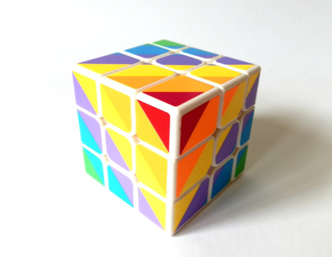 Кубик Рубика 3х3 YJ Unequal 3x3 rainbow cube