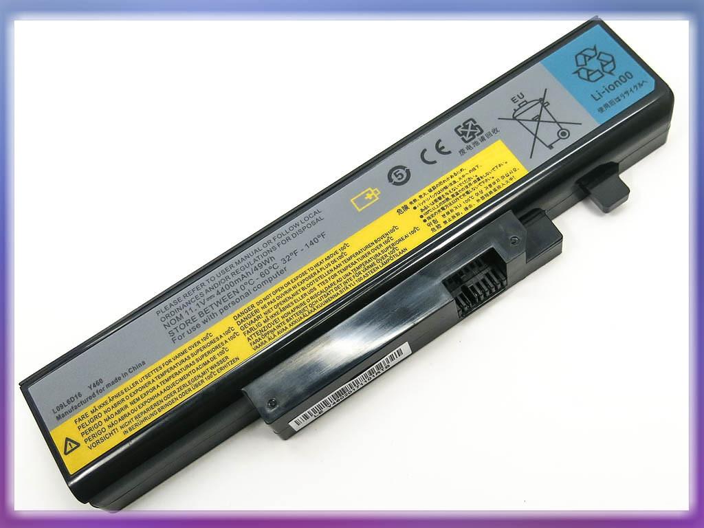 Батарея ( L10L6Y01) IdeaPad Y560 (10.8V 4400mAh). Black