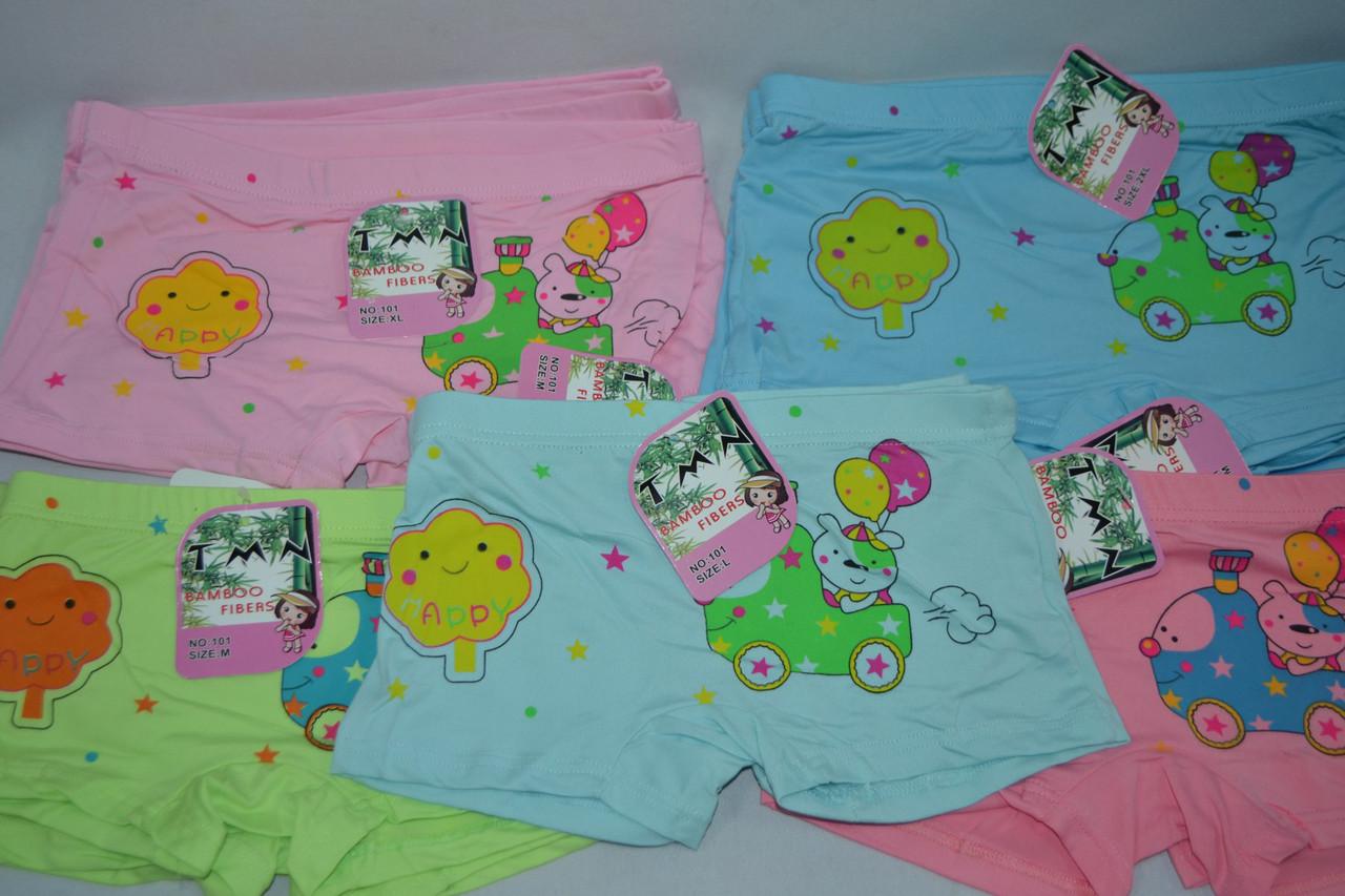 Шортики для девочек бамбук Happy! Разные цвета