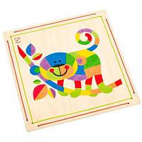 Мозаика цветным песком Обезьяна, Hape E5115