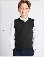 Школьный хлопковый жилет Marks&Spenser StayNEW. Размер 152. Оригинал, Англия, фото 1