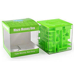 Куб-лабиринт с шариком Money Maze Puzzle Box