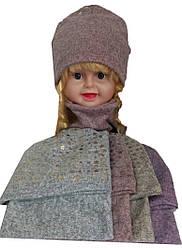 Набор на девочку 104800 шапка и хомут звезды (деми)
