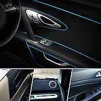 Декоративный кант для интерьера автомобиля - синий