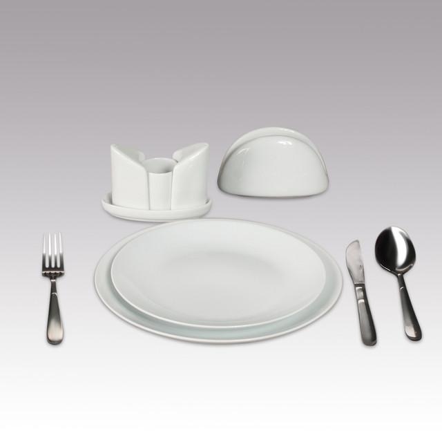 Тарелки белые