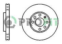 Тормозной диск STARLINE PB2638 ПЕРЕДН OPEL ASTRA F, ASTRA G