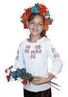 Украинская трикотажная блуза 6-16 лет/длинный рукав