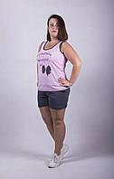 "Пижама майка с шортами ""Бантик"" р. 42-54, фото 1"