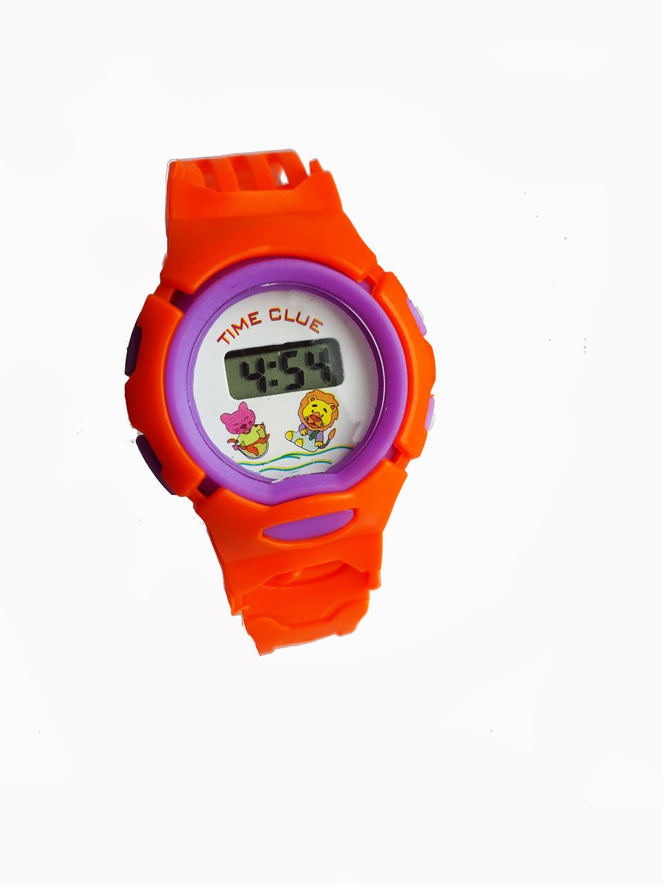 Часы электронные, детские Time Glue Оранжевый