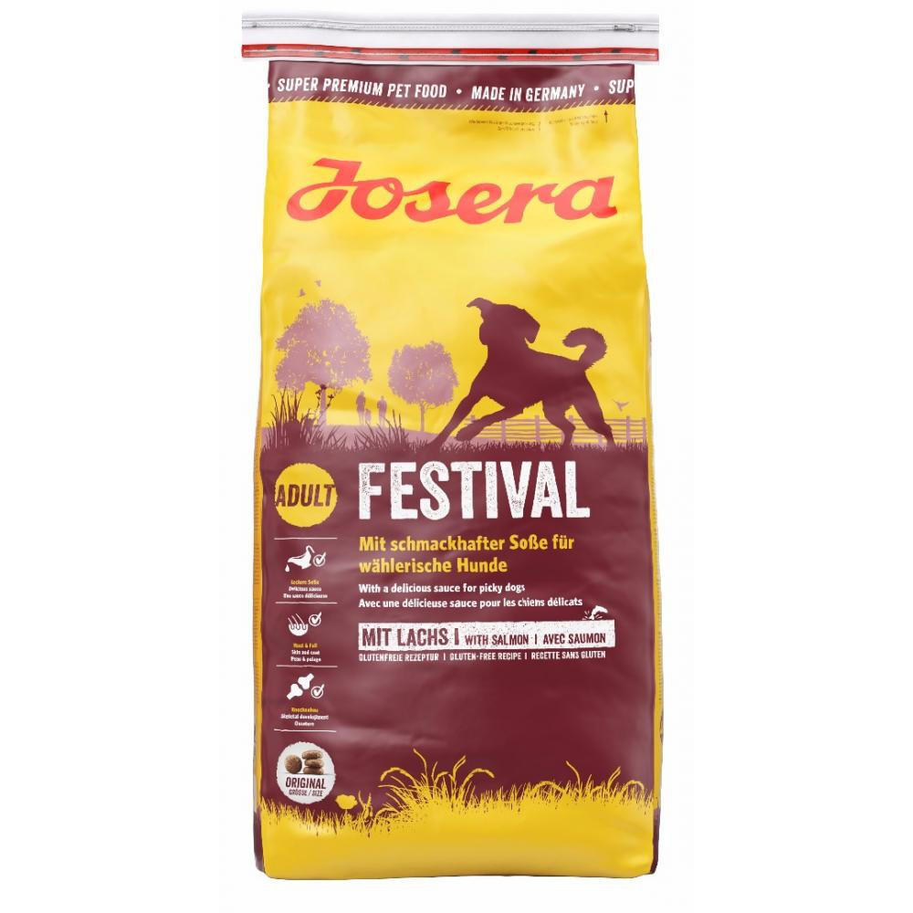 Корм для собак Josera Festival 15 кг для привередливых с лососем