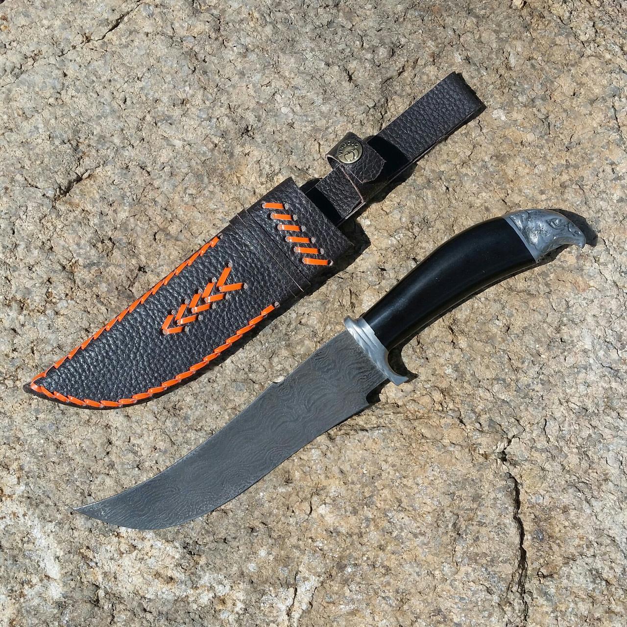 Нож дамаск с декором. Чуст, Узбекистан