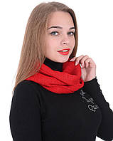 Шарф хомут Alenka Plus 0043-3 Красный