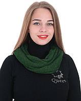 Шарф хомут Alenka Plus 0043-5 Темно-зеленый