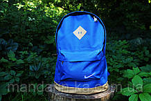 Рюкзак городской  Nike Найк  кобальтовый  (реплика)