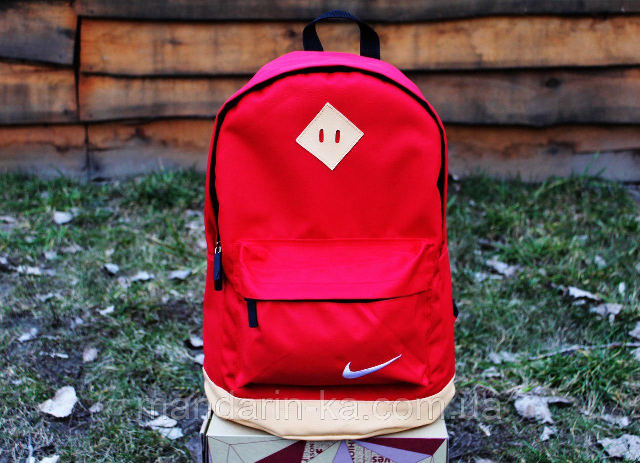 Рюкзак городской  Nike Найк  красный  (реплика)