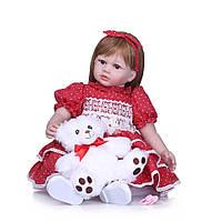 Кукла Реборн Алиса 60 см, мягконабивная