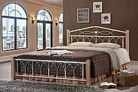 Кованная двуспальная кровать Миранда 1600х2000, цвет крем