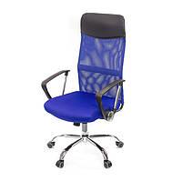 Кресло офисное Гилмор СН TILT синего цвета из ткани