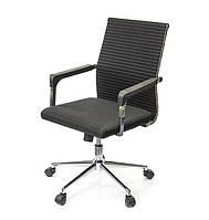 Кресло офисное Бруно СН TILT чёрного цвета из ткани