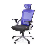Кресло офисное Прима PL HR ANF синего цвета из ткани