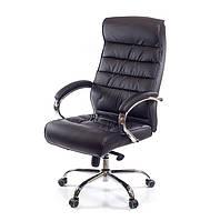 Кресло офисное Камиль CH MB черного цвета из экокожи
