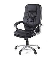 Кресло офисное на колесиках Синай PL TILT чёрного цвета из экокожи