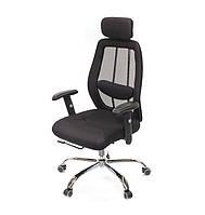 Кресло офисное Беладжио CH D-TILT чёрного цвета из ткани