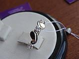 Серебряное кольцо с золотой пластинкой , фото 4