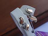 Серебряное кольцо с золотой пластинкой , фото 10