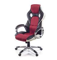 Кресло компьютерное Антарес PL TILT красного цвета из экокожи