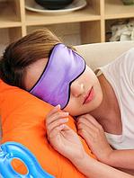 Маска для сна фиолетового цвета.