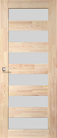 Дверь деревянная (сосна) SD-02. Со стеклом сатин. KORFAD (КОРФАД)