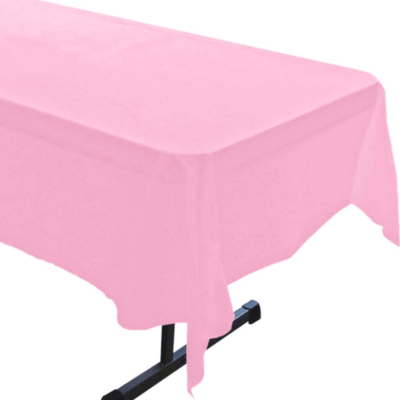 Скатерть розовая полиэтиленовая