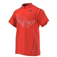 Футболка поло спортивная мужская adidas Polo BT3 G88762 (оранжевый, полиэстер, для тренировок, логотип адидас), фото 1