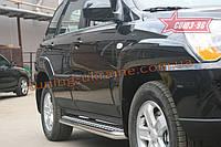 Пороги с листом d 60 (компл. 2 шт) Союз 96 на Kia Sportage II 2008-2010