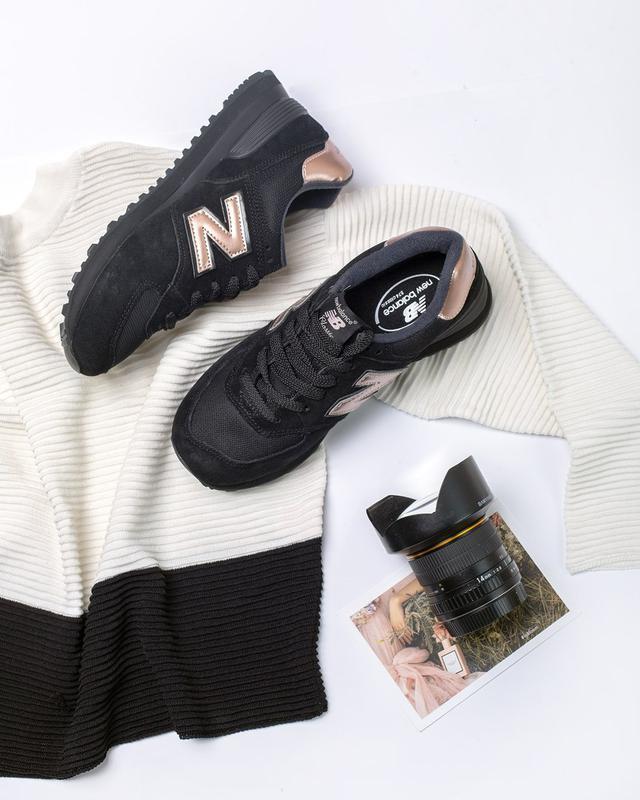 Кроссовки в стиле New Balance 574 Molten Metal Black женские b3e5ca5d24d5f