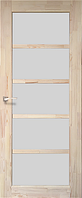 Дверь деревянная (сосна) SD-01. Со стеклом сатин. KORFAD (КОРФАД)