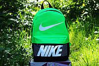 Рюкзак городской  Nike Найк салатово-черный (реплика)