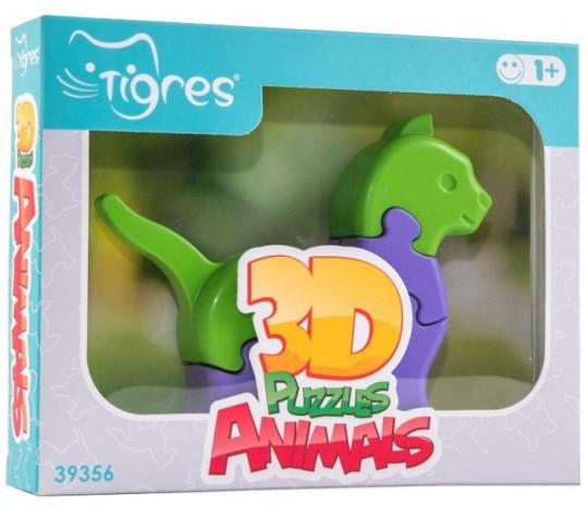Іграшка розвиваюча: 3D пазли Тваринки (1шт.) -  8 ел. 39356