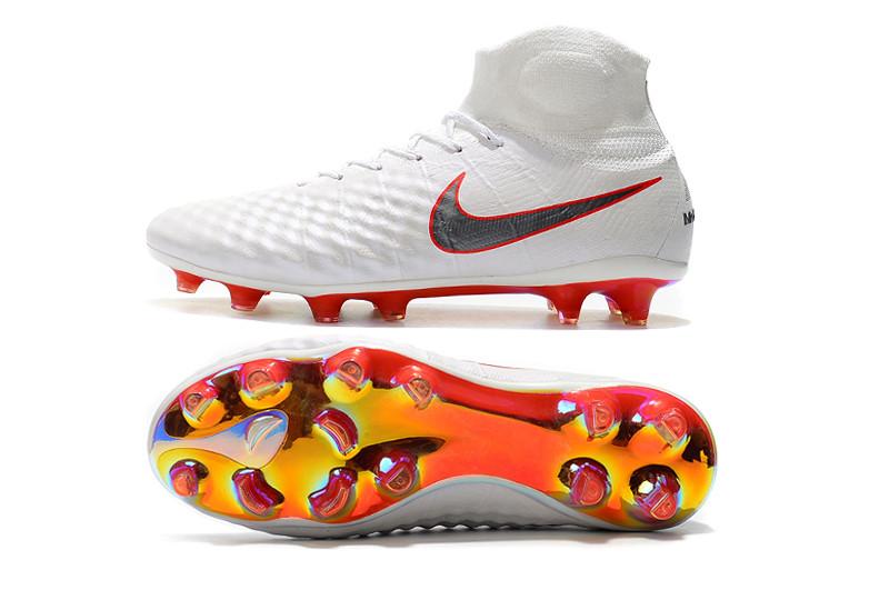 efa5fb987071 Футбольные бутсы Nike Magista Obra II Elite DF FG White Metallic Cool Grey  Light