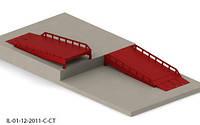 Эстакада перегрузочная 7м 6т с заездом на пандус 1200мм