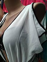 Длинный пляжный халат Контраст 5016 белый на размеры 48 50.  , фото 2