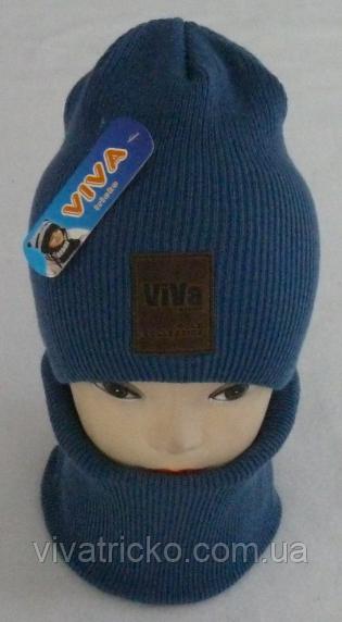 М 6054 Комплект шапка и баф зимний , разные цвета