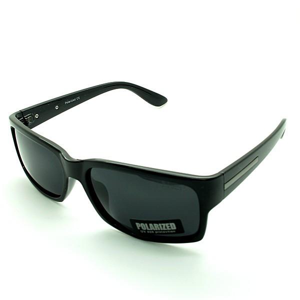 Солнцезащитные очки прямоугольные  оправа, пластик  Polarized черный мужские ( PO2230 C1 )