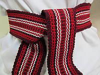 Пояс в украинском стиле тканный/красный