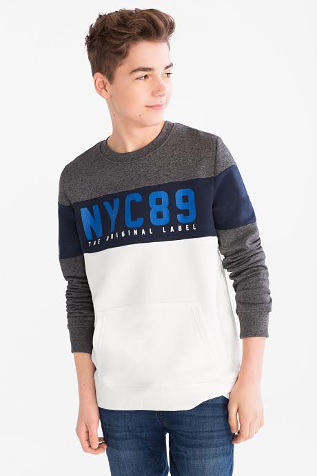 Теплая кофта для мальчика с надписью NYC 89 C&A Германия  Размер 134-140, 146-152, 158-164