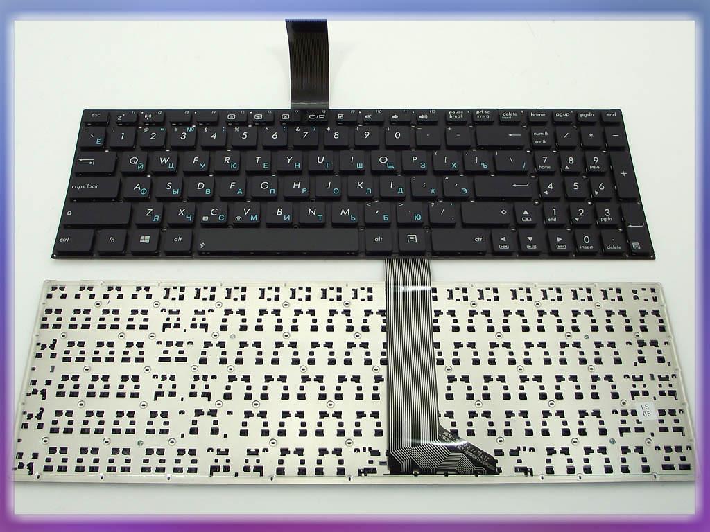 Клавиатура ASUS R505 ( RU Black без рамки, контакты с лицевой стороны)